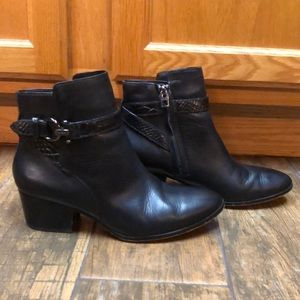 Coach Paulina ankle boots black